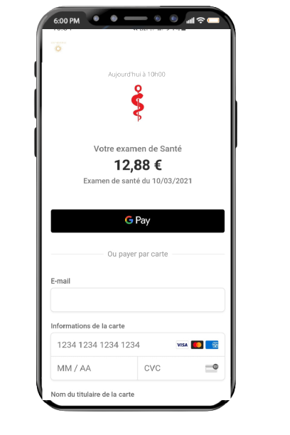 SMS Impayé exemple paiement